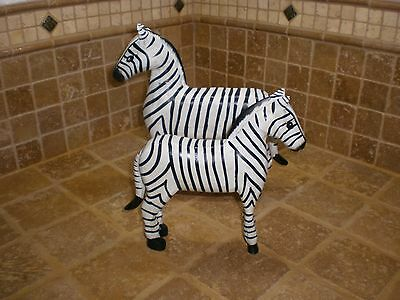 Hand carved hand painted wood zebra animal decoration figure art