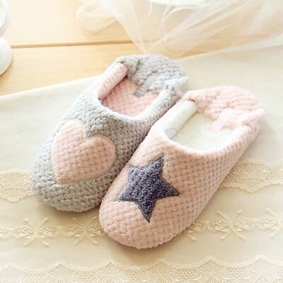 Lady's Warm Cotton Blend Casual Slippers Home Shoes Heart/Star Style Indoor
