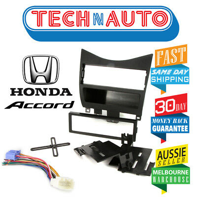 Honda Accord 2003 - 2007 Single Din Black Colour Facia Fascia Panel Kit