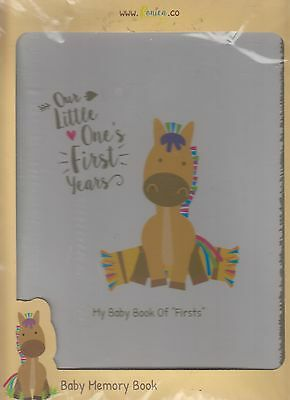 Ronica Farm Animal Baby Memory Book  Moo Meow Quack 60 Page Keepsake Photo Album