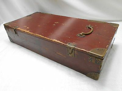 Antique Wooden Military Instrument Box Japanese Circa 1910s  #621