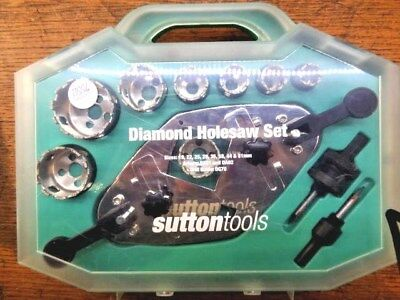 Sutton Tools Diamond Grit Holesaw Set