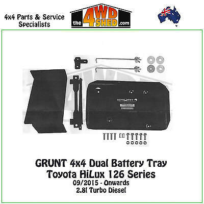 Grunt 4x4  Dual Battery Tray Toyota HiLux 126 Series TD 2015-ON