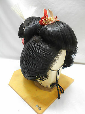 Vintage GEISHA GIRL WIG IN CASE Real Hair from Japan #16
