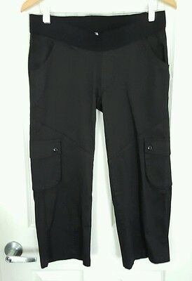 *NEW* SOON Melbourne Maternity 3/4 Black Cargo Pants Shorts 8 RRP$110 BNWT