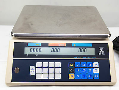 Digital Computing Scale DS-688 Teraoka Seiko 15Kg Trade Approved Price Scales