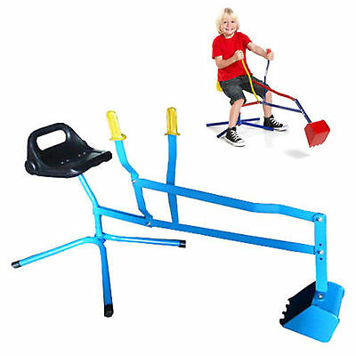 Heavy Duty Metal Sand Digger 360 Degree Revolving Outdoor Childrens Sandpit Toy