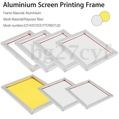 A3 / A4 Aluminium Screen Printing Frame Stretched With Silk Screen Print Mesh