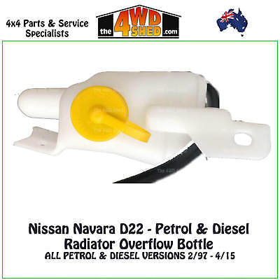 Radiator Overflow Bottle Expansion Tank suits Nissan Navara D22 PET DIESEL 97-15