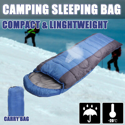 -20°C Outdoor Camping Sleeping Bag Hiking Tent Thermal Winter 202x66CM Compact