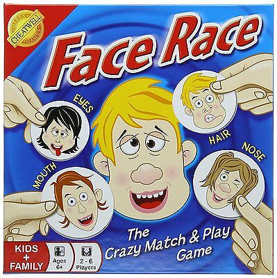 NEW Cheatwell Games Face Race The Crazy Match And Play Board Game