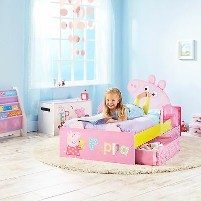 Peppa Pig Toddler Junior Bed With Storage + Matresss Options Available