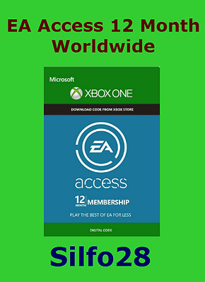 EA Access 12 Month Membership Xbox One - Works Worldwide