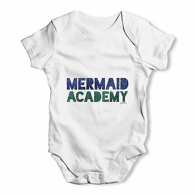 Twisted Envy Mermaid Academy Baby Unisex Funny Baby Grow Bodysuit