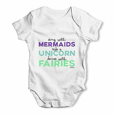 Twisted Envy Sing With Mermaids Baby Unisex Funny Baby Grow Bodysuit
