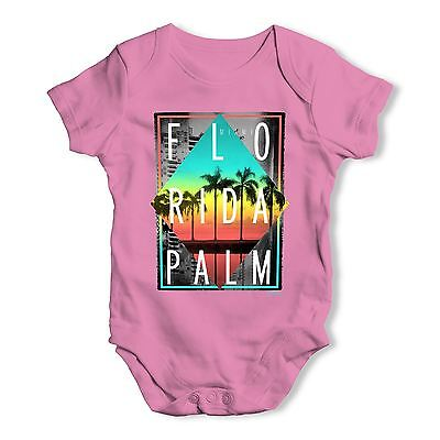 Twisted Envy Florida Palm Baby Unisex Funny Baby Grow Bodysuit