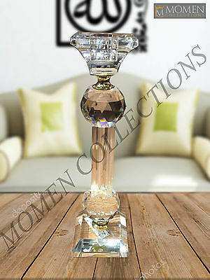 Crystal Candlestick Tealight Holder Decorative Glass Candle Holder New