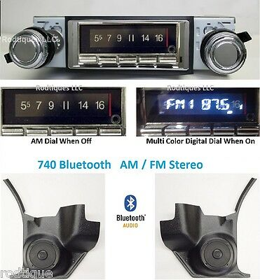 1968-69 Cutlass 442 Bluetooth Radio Stereo + Kick Panels with AC 740