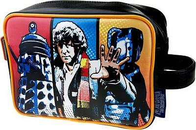 Dr Who - Striped Fully Lined Wash Bag - New & Official BBC With Tag