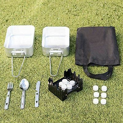 Camping cooking & Festival Kit Outdoor 5 Piece Essential cooking Mess Tin Stove