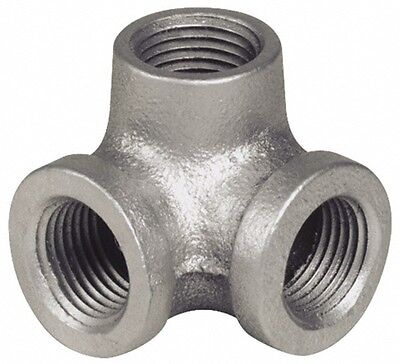 """1"""" Side Outlet Elbow DEG 90°GALVANIZED MALLEABLE IRON fitting pipe npt"""