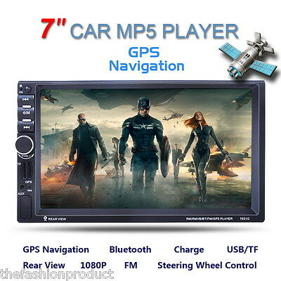"7"" Pantalla Táctil Coche MP5 Bluetooth Player FM/AUX-IN/USB/SD HD GPS Navegación"