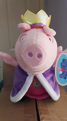 """Peppa Pig Royal Princess Peppa Plush Toy - 11"""" In Height - New & Tagged"""