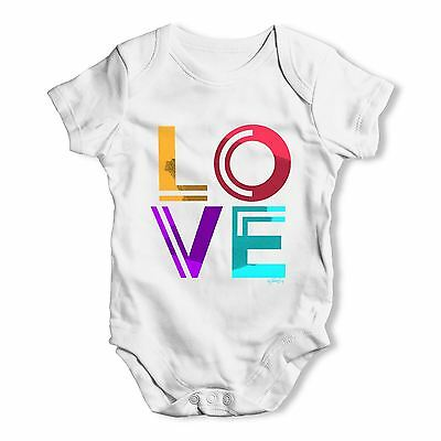 Twisted Envy Neon Love Baby Unisex Funny Baby Grow Bodysuit