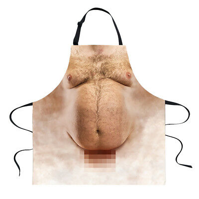 Novelty Aprons BBQ Rude Funny Tattoo Man Cooks Kitchen Cooking Apron