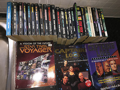 Star Trek Book Novel Collection Lot