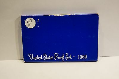 1969 US Mint 5-Coin Proof Set - 40% Silver Kennedy Half