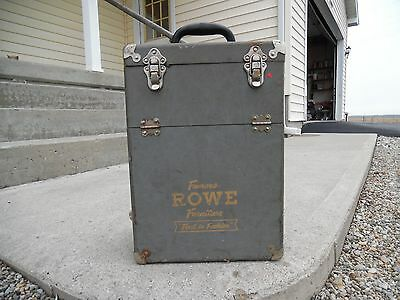 "VTG ROWE FURNITURE Salesman Sample Small 10 3/4 x 8"" x 15 1/4 Display Box/Case"