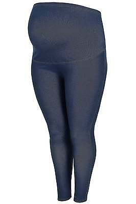 Plus Size Womens Bump It Up Maternity Indigo Jeggings With Comfort Panel