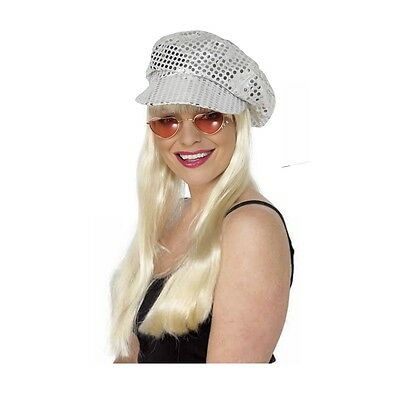 Sequin Hat for Women Adult 70s Disco Costume Accessory Fancy Dress