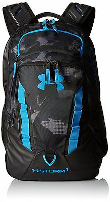 Under Armour Storm Recruit Backpack, Black/Stealth Gray, One Size, NEW