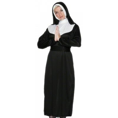 Nun Costume Adult Womens Catholic Religious Halloween Fancy Dress
