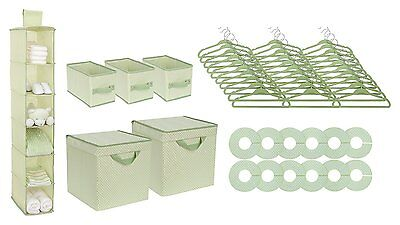 NEW Delta 48 Piece Nursery Storage Set, Green FREE SHIPPING
