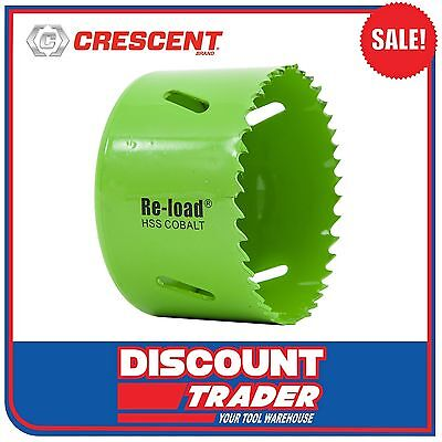 Crescent Re-Load Holesaw Individual Cobalt HSS 73mm - CRLHS73