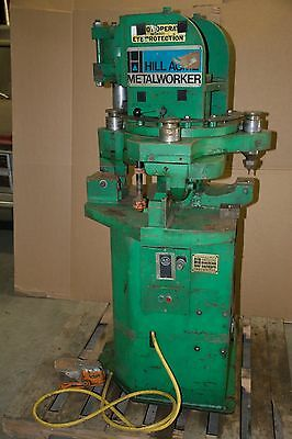 Hill Acme Co Metalworker 30 Ton Capacity Iron Worker 4 Station Turret Ironworker
