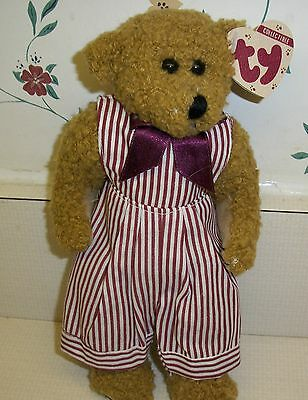 "Ty Attic Treasures ""Dexter"" 9-Inch tan Bear with Tags"