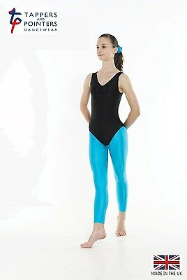 Girls Footless Nylon Lycra Dance/gymnastics Tights (8 Colours)