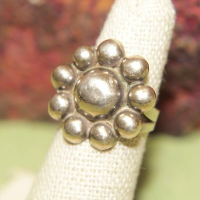Vintage Taxco Mexico Serafin Moctezuma Dotted Sterling Silver 925 Ring Sz 5 3.3g