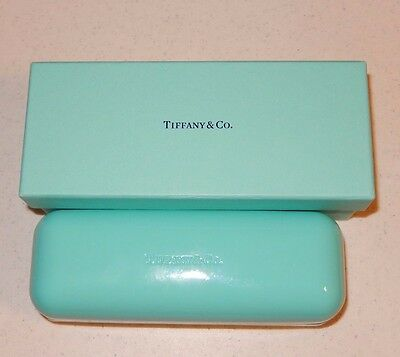 Tiffany & Co Blue Optical Eyeglass Case and Box New!