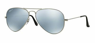 Ray-Ban Aviator Rb3025 019/w3 58Mm Polarized Silver Mirror Lens