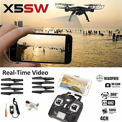 X5SW -1 Wifi FPV camera RC 2.4G RC Quadcopter Drone with HD Camera RTF Black UAV