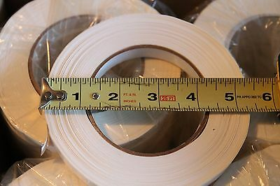 "Poly Strapping Adhesive Tape White Color 12mm x 110m , 12 Rolls 1/2"" x 120 yards"