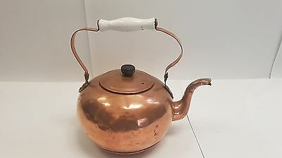 Mid 19th Century Sphere Form Stove Top Fitting Copper Kettle