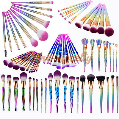 Professional Cosmetic Makeup Brushes Contour Set Daily Diamond Unicorn Colorful