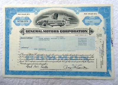 1983 General Motors Corporation Stock Certificate 100 Shares #d77