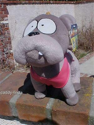2002 Nwt Large Sparky South Park Plush Stuffed Gray Dog Toy Fleece Fabric Bin